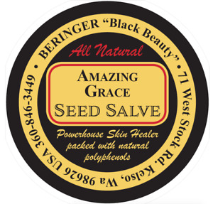 1000 Custom Printed 2 Round Salve Labels Red Black Ink On Gold Laminated