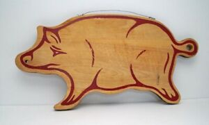 Vintage Primitive Wooden Pig Cutting Board Or Bread Board