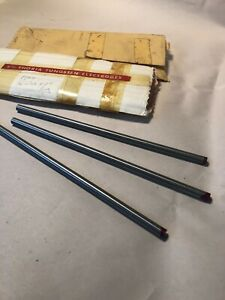 Nos Ge 1 4 x7 2 Thoriated Tungsten Tig Welding Electrodes Lot Of 3