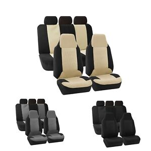 High Back Bucket Seat Premium Fabric Car Seat Covers Full Set Universal Fit