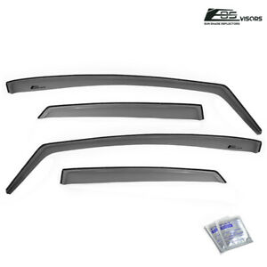 For 11 19 Ford Fiesta Sedan In channel Style Side Window Visors Rain Deflectors