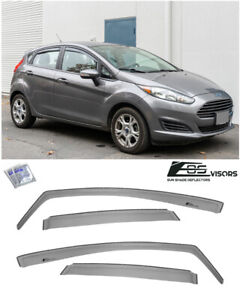 For 11 19 Ford Fiesta Hatchback In Channel Smoke Tinted Window Visors Deflectors