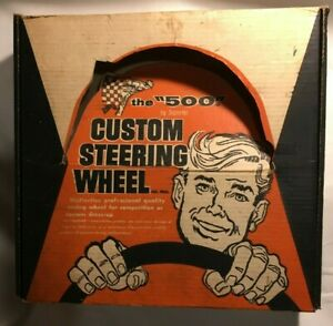 Superior the 500 vintage 1960 s Steering Wheel Nos New Mint In Original Box