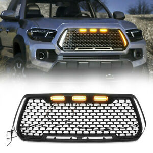 Front Grille For Tacoma 2016 2019 With Led Turn Signal Lights Day Lights Black