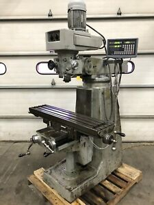 Pal 10 x44 Vertical Milling Machine With Dro Bridgeport Style 2hp R 8