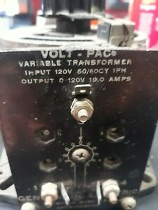 General Electric Ge Volt pac Variable Transformer Variac