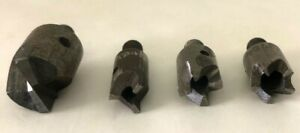 4 Assorted Rivet Shavers Carbide Cutter Bit Size 1 4 28 Threaded Aircraft Tool