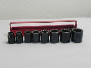 Matco Tools 8 Piece 3 8 Drive 6 Point Sae Standard Impact Socket Set W holder