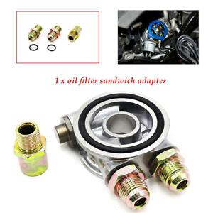 Car Auto Oil Filter Relocation Sandwich Plate Adapter Kit An 10 Fitting Durable
