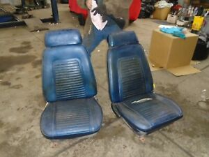 1969 Camaro Firebird Bucket Seats With Tracks 1967 1968