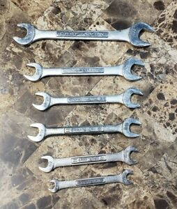 Nice Craftsman V Series 6 Piece Sae Double Open End 3 8 7 8 Wrench Set Usa
