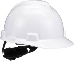 Msa 475358 V gard Slotted Hard Hat Cap Style With 4 point Fas trac Iii White