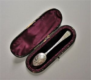 Rare Antique 1889 Victorian Sterling Silver Spoon Fully Hallmarked British Boxed