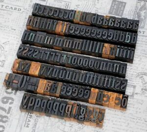 A z Alphabet 1 42 Letterpress Wooden Printing Blocks Wood Type Vintage Print