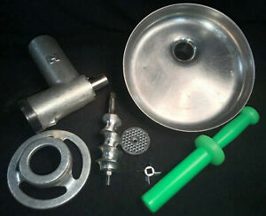 Genuine Hobart Size 12 Meat Grinder Attachment With Pan Stomper Item Id 3bp