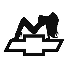 Chevy Bowtie Sexy Woman Vinyl Decal Car Window Laptop Sticker