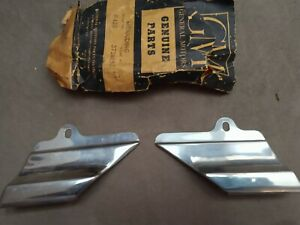 1956 Chevy 210 Nos Lower Side Diamond Shaped Paint Divider Moldings Pair