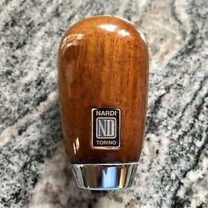 Nardi 5 speed Teardrop Wood Shift Knob Mazda Miata Mx 5 Rare