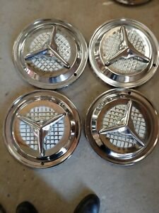 Vintage 3 bar Fiesta Spinner Wheel Rim Hub Cap Hubcaps Oldsmobile Olds 15 In