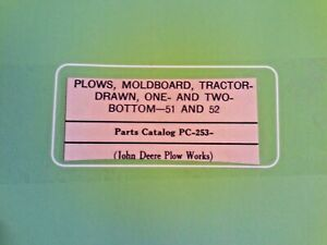 Vintage John Deere Plows Moldboard Tractor drawn One and Two Bottom 51 And 52