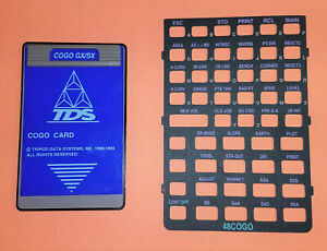Tds Cogo Gx sx Card With Overlay For Hp 48gx sx Tripod Data System Surveying
