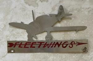 Fleetwings 1941 Vintage Aircraft Airplane License Plate Topper Handmade