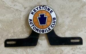 Keystone Automobile Club Vintage Automotive License Plate Topper Original