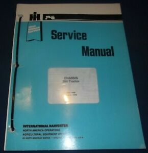 International 384 Tractor Chassis Service Repair Manual Gss 1489