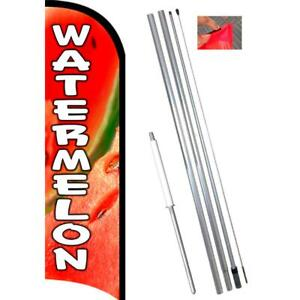Watermelon Premium Windless style Feather Flag Bundle 14 Or Replacement Flag On