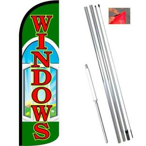 Windows Windless style Feather Flag Bundle 14 Or Replacement Flag Only 11 5