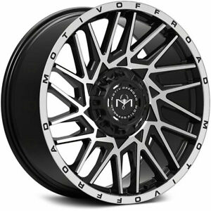 22x12 Motiv 424mb Mutant Black Wheels Rims 44 5x4 50 5x5 00 Qty 2