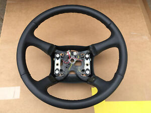 1998 2002 Chevy Silverado Tahoe Suburban Dark Grey Leather Steering Wheel Oem