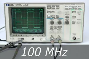 Hp Agilent 54600a 2 channel 100 Mhz Oscilloscope 2 New Probes Very Clean