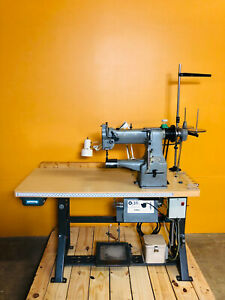 Singer Consew 227r With Synchro Q31 Plus Industrial Sewing Machine Tested