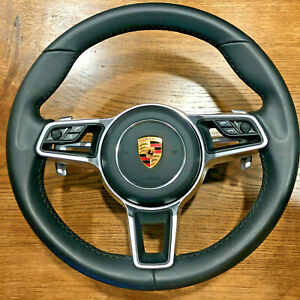 Porsche Macan 911 Carrera Cayenne Gts Cayman Turbo Steering Wheel airbag Black