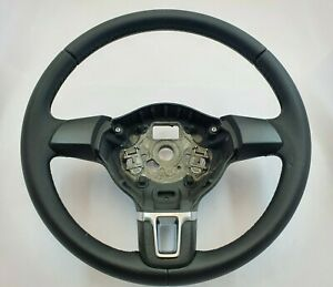 Vw Volkswagen Polo Mk5 6r 6c Steering Wheel New Leather