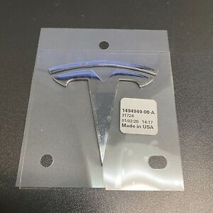 New 2018 2020 Original Oem Tesla Model 3 Front Hood T Badge Emblem