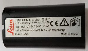 Leica Geb221 Lithium ion Battery 7 4v 4 4ah Rechargeable