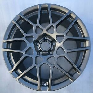 One 19 X9 5 2013 2014 Ford Mustang Factory Oem Front Wheel Rim 3911 Charcoal