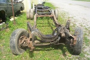 Ford Dana 60 Front King Pin 4x4 Rear Axle Frame Rolling Chassis Drw