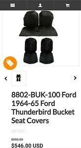 1964 65 Ford Thunderbird Bucket Seat Covers New Open Box