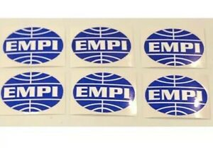 6 Empi Stickers Decals Racing Offroad Buggy Nhra Drags Nostalgia Hotrods
