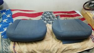 80 88 Ford Bronco Bucket Seats Low Back Lower Cushion Passenger And Driver Blue