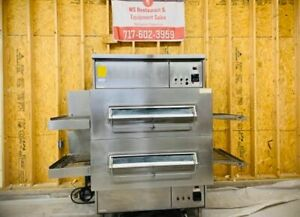 Middleby Marshall Double Stack Ps 360g Nat Gas 32 Conveyor Pizza Ovens