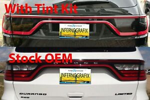 Tail Light Tint Air Release Dark Smoke Fits Dodge Durango 2014 2020