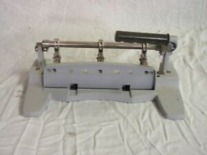 Used Large Swingline Brand Three Hole Manual Punch 74357 For Parts