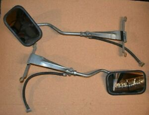 Pair Of Vintage Truck Camper Rv Fender Mount Universal Type Towing Mirrors