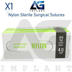 Nylon Sterile Surgical Sutures Non Absorbable Blue Monofilament Medical Dental