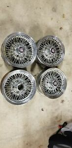 Cadillac Wire Spoke Wheel Rwd 15x6 5x5 Set Of 4