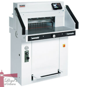 Mbm Triumph 5560 Programmable Hydraulic 21 5 8 Paper Cutter With Vrcut